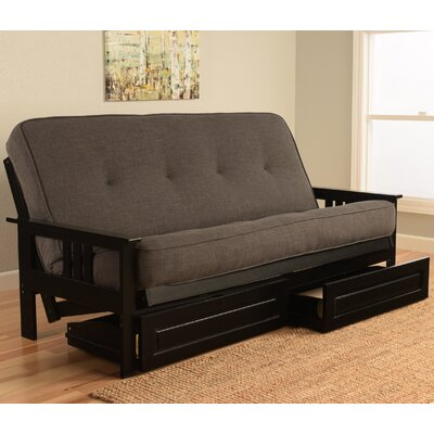 Kodiak Furniture Monterey Black Frame Futon With Mattress