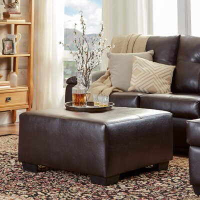Three Posts Camden Leather Ottoman