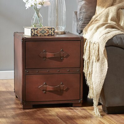 Three Posts Jefferson 2 Drawer End Table