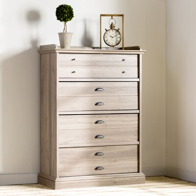 Three Posts 4 Drawer Chest