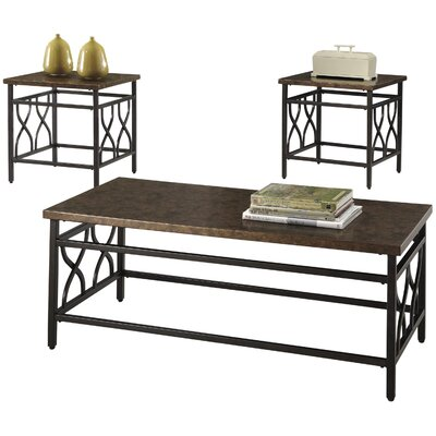 Three Posts Hartwick 3 Piece Coffee Table Set Image