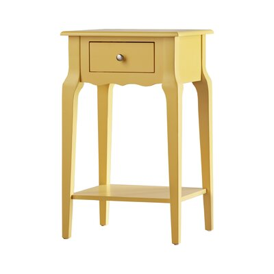 Stunning Three Posts Daltrey Drawer End Table