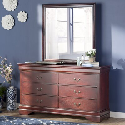 Three Posts Saugeries 6 Drawer Dresser