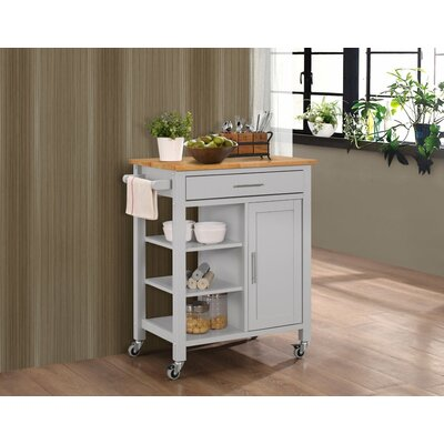 Three Posts Newfane Kitchen Cart