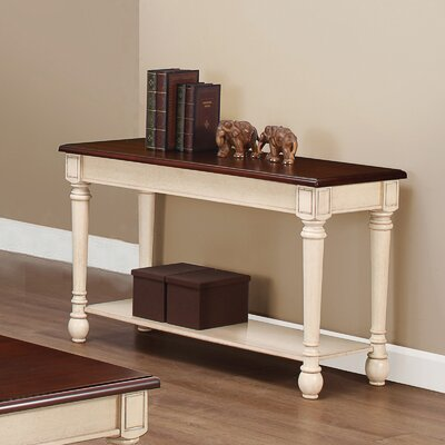 Three Posts Classic Two Tone Sofa Table