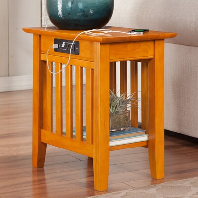 Three Posts Danube Side Table with Charging Station Image
