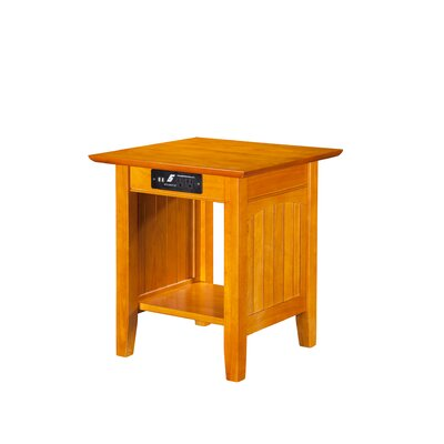 Three Posts Orangetown End Table with Charging Station