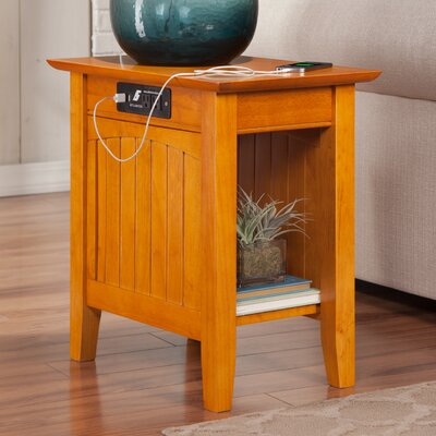 Three Posts Orangetown Side Table with Charging Station