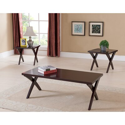 Three Posts Aldan 3 Piece Coffee Table Set