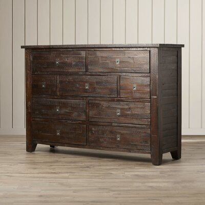 Three Posts Bulwell 9 Drawer Dresser