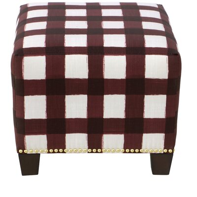 Three Posts Backstrom Square Nail Button Ottoman