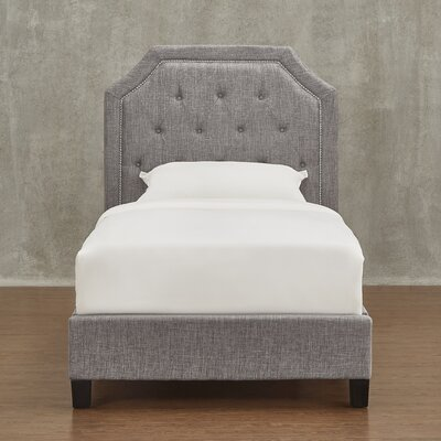 Three Posts Abbey Twin Upholstered Panel Bed