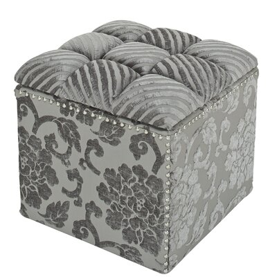 Three Posts Worthville Tufted Storage Ottoman