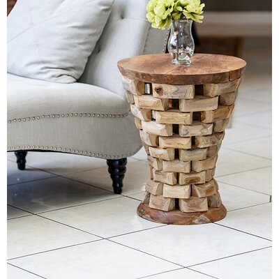 Garden Age Habibi Teak Puzzled End Table