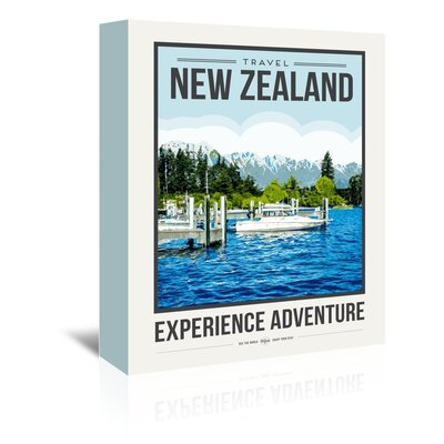 Americanflat 'Travel Poster New Zealand' by Brooke Witt Vintage Advertisement Wrapped on Canvas