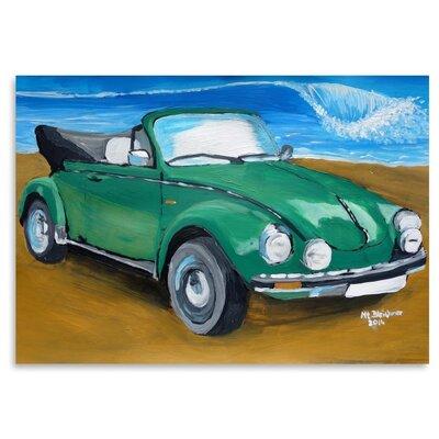 Americanflat 'Bug At Beach' by M Bleichner Art Print