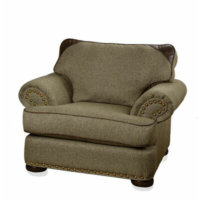 Summit Furnishings Devon Patched Tweed Arm Chair