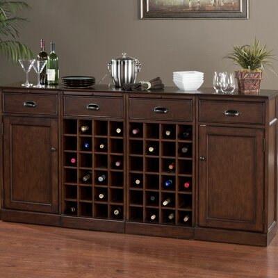 American Heritage Natalia Bar Cabinet With Wine Storage Reviews Wayfair