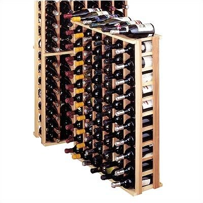 Wine Cellar Innovations Country Pine 66 Bottle Floor Wine Rack