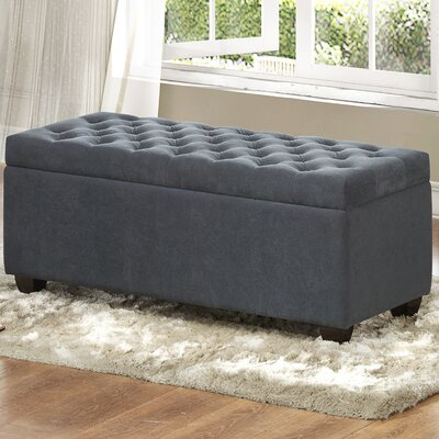 Three Posts Virgil Upholstered Storage Be..