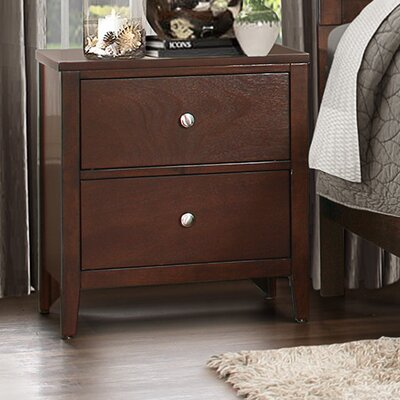 Homelegance Cullen 2 Drawer Nightstand