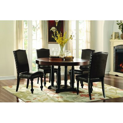 Homelegance Blossomwood 5 Piece Dining Set