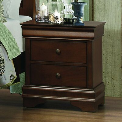 Homelegance Abbeville 2 Drawer Nightstand