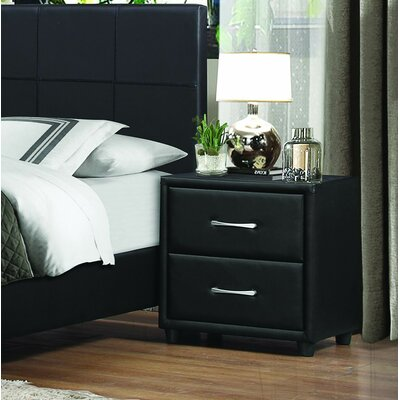 Homelegance Lorenzi 2 Drawer Nightstand