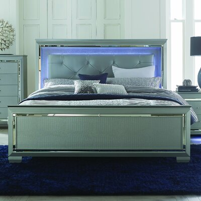 Homelegance Allura Upholstered Panel Bed