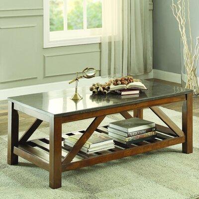 Homelegance Ashby Coffee Table, Bluestone Marble