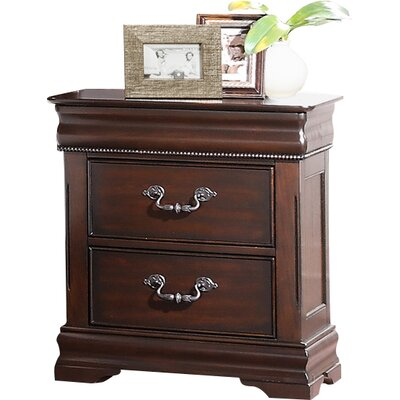Astoria Grand Boltongate 2 Drawer Nightstand