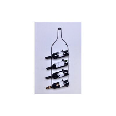 Welland LLC 4 Bottle Wall Mounted Wine Rack
