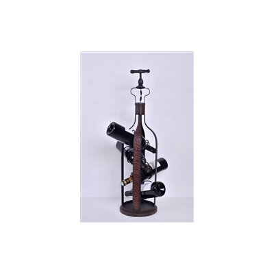 Welland LLC 4 Bottle Tabletop Wine Rack