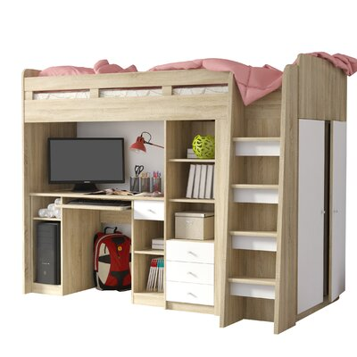 Home Etc Single High Sleeper Bed with Storage & Reviews ...