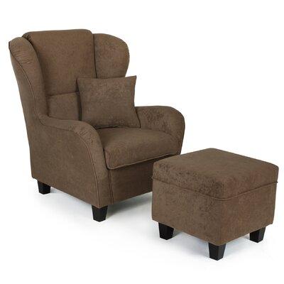 home haus ohrensessel birriei mit hocker bewertungen. Black Bedroom Furniture Sets. Home Design Ideas