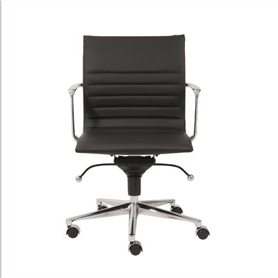 Eurostyle Kyler Low-Back Leatherette Office Chair with Arms