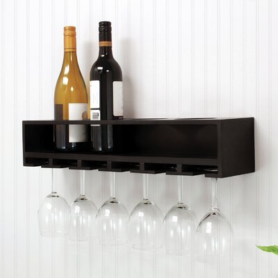 nexxt Design 4 Bottle Wall Mounted Wine Rack
