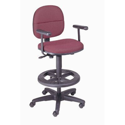 Nexel Mid-Back Drafting Chair with Foo..