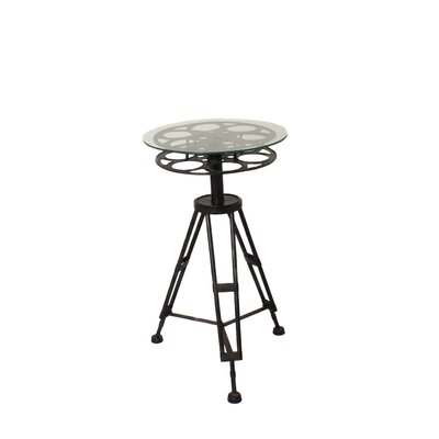 EC World Imports Urban Hollywood Film Reel End Table