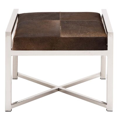 EC World Imports Urban Designs Leather Ottoman