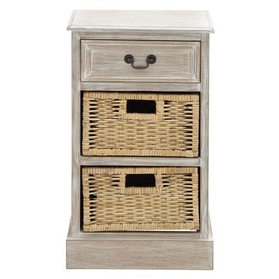 EC World Imports Urban Designs 3 Drawer Nightstand