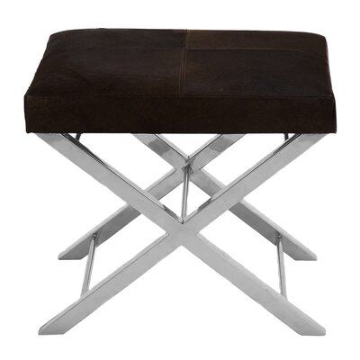 EC World Imports Urban Designs Leather Counter Stool Ottoman