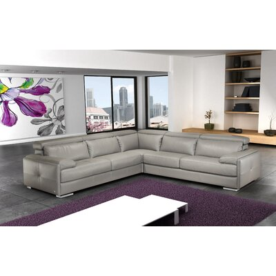 J&M Furniture Gary Leather Sectional
