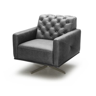 J&M Furniture Othello Italian Leather Swivel Chair