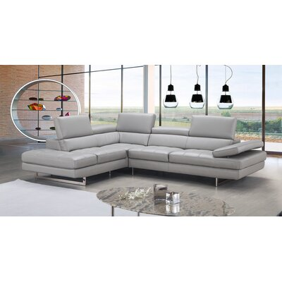 J&M Furniture Aurora Premium Leather Sectional