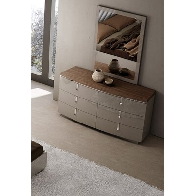 J&M Furniture Napa 6 Drawer Dresser