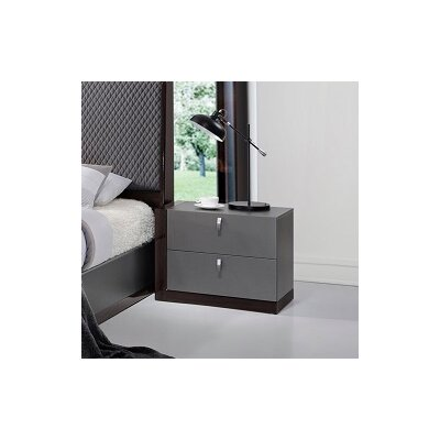 J&M Furniture Sorrento 2 Drawer Nightstand