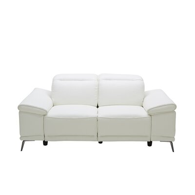 J&M Furniture Gaia Leather Reclining Loveseat