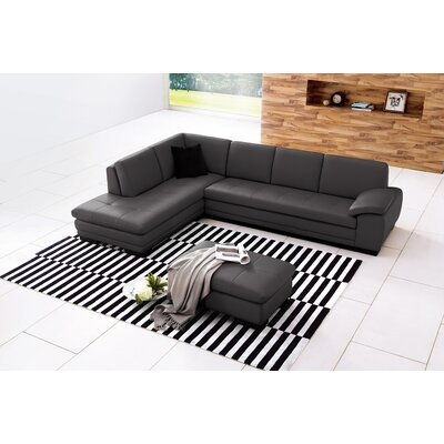 J&M Furniture Austin Leather Sectional