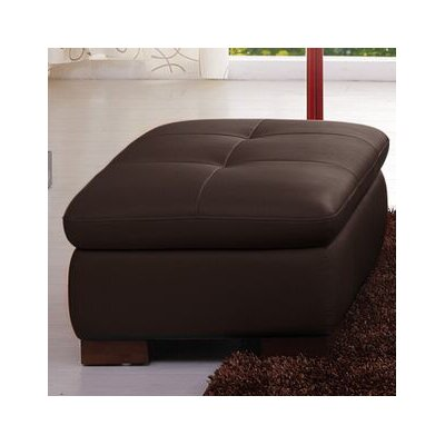J&M Furniture Catania Leather Ottoman Image